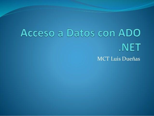 MCT Luis Dueñas