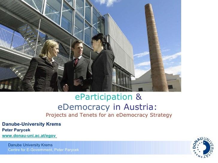 Austrian E Democracy Strategy