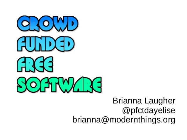 CFFSW - Crowdfunded free software