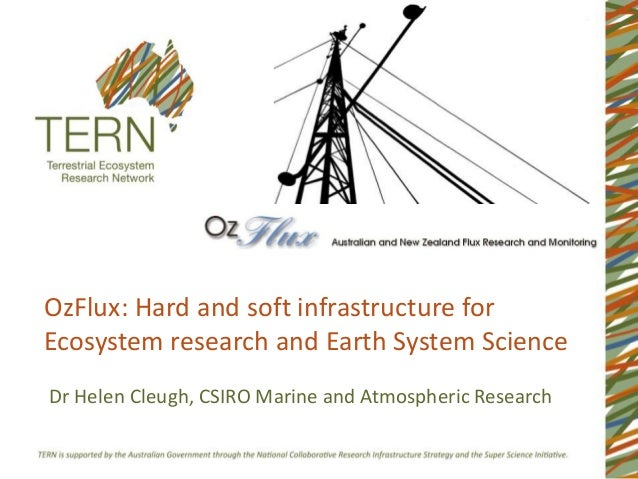OzFlux: Hard and soft infrastructure forEcosystem research and Earth System ScienceDr Helen Cleugh, CSIRO Marine and Atmos...