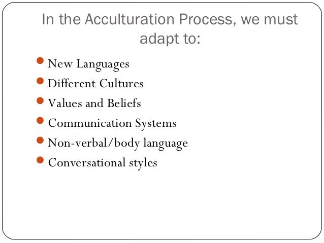 acculturation process