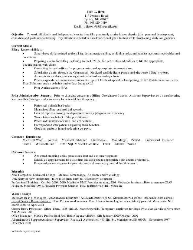 medical billing coding resume sample entry level cover letter medical receptionist resume objective summary medical sample