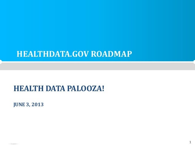 HEALTH ANDHUMAN SERVICES DOMAINIT PROGRAM MANAGEMENT OFFICE 1HEALTHDATA.GOV ROADMAPHEALTH DATA PALOOZA!JUNE 3, 2013