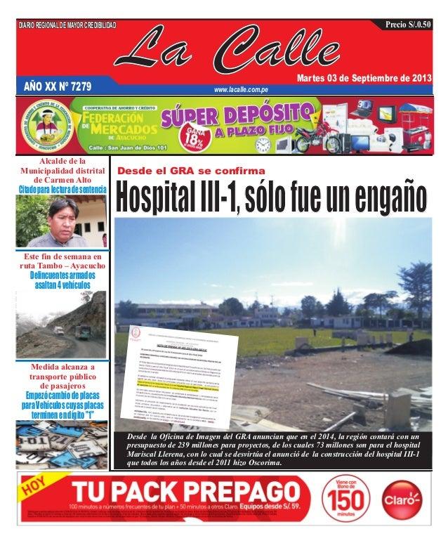 Edición 03 de septiembre     del Diario La Calle