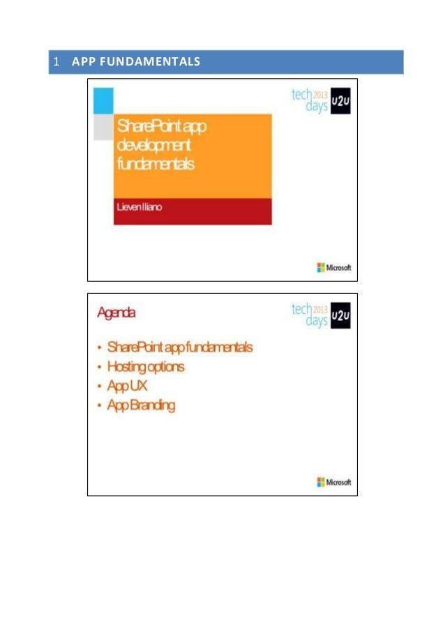 Deep Dive SharePoint 2013: SharePoint app development fundamentals