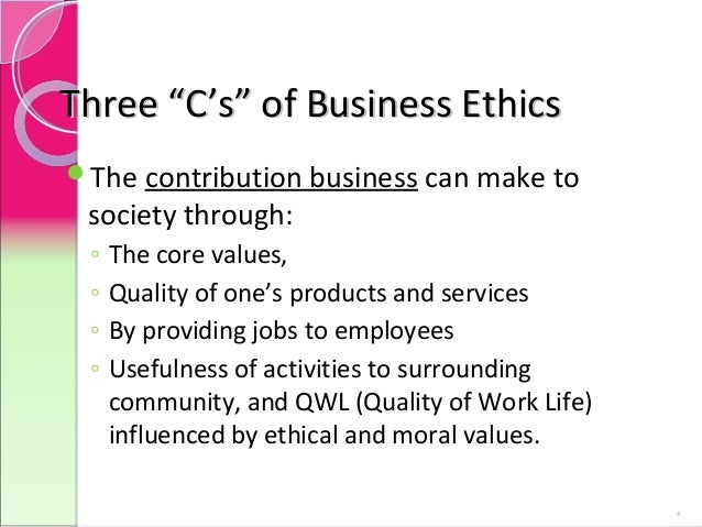 an essay on business ethics