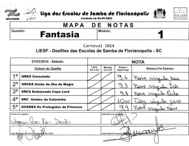 SANTA CATARINA  -•4 r:  liga da1 E1cola1 de Samba de florianOpoli1  l f ~f  S L {; R I! r A f~ l A 1.1 lJ N t C I PAL DF T...