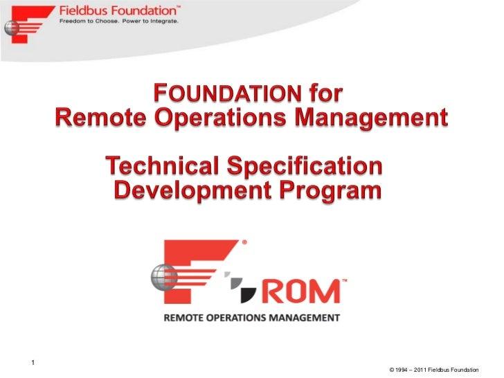 03 foundation for rom development program 11 18-11