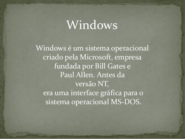 História do windows