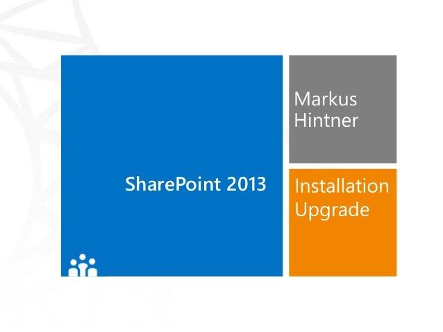 SharePoint 2013 – Installation und Upgrade