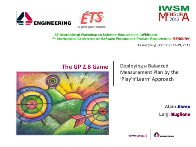 The GP 2.8 Game - – Deploying a Balanced Measurement Plan by the 'Play'n'Learn' Approach