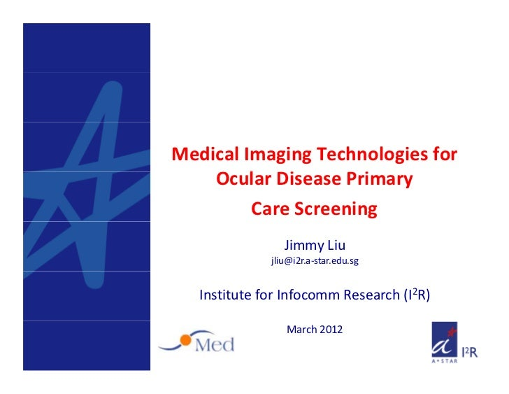 Medical Imaging Technologies for     Ocular Disease Primary     O l      i        i         Care Screening                ...