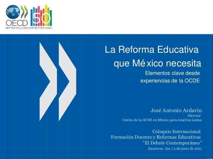 La reforma educativa que México necesita - Zacatecas
