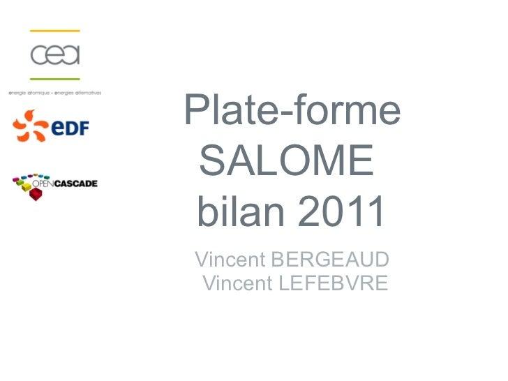 Plate-forme SALOMEbilan 2011Vincent BERGEAUD Vincent LEFEBVRE