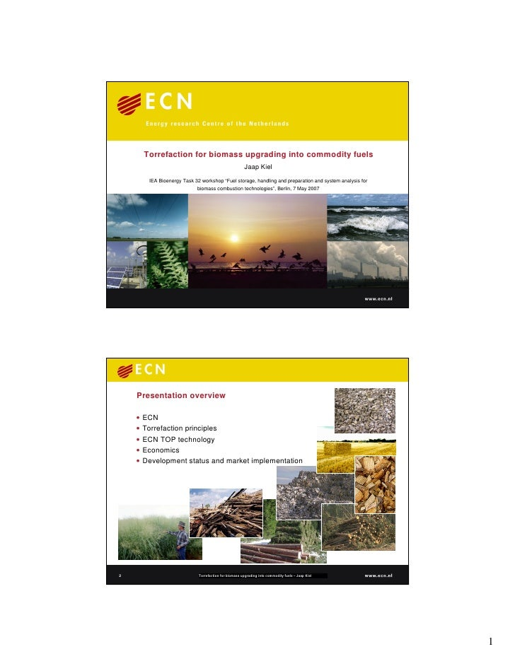 Torrefaction technology by ECN