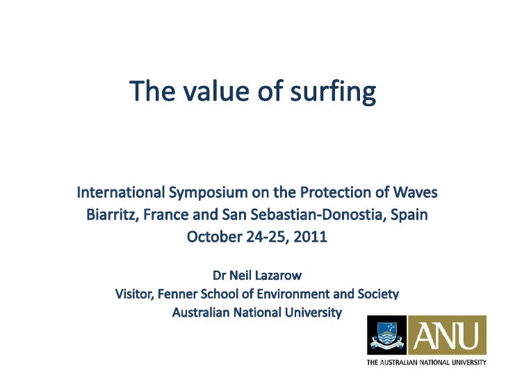 The Value of Waves – Neil LAZAROW,