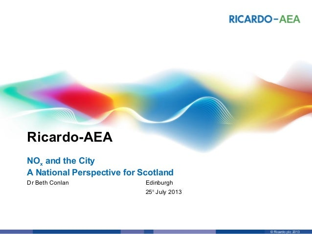 NOx and the City - A National Perspective for Scotland