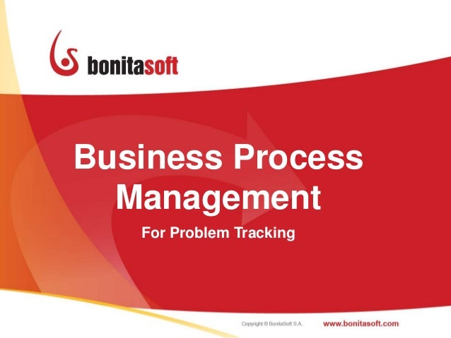 Business Process  Management   For Problem Tracking                          1