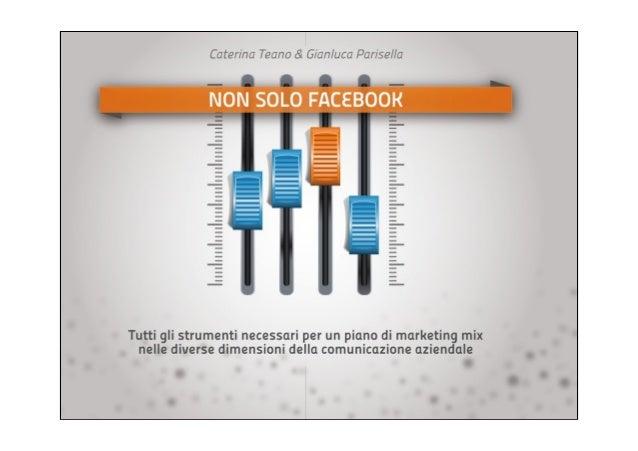 MARKETING MIXNon solo Facebook!Quali sono gli strumentinecessari per un rendereefficace un piano di webmarketing?