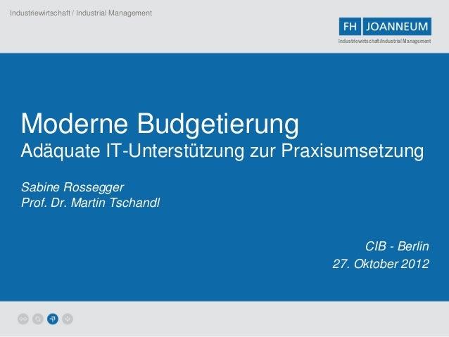 Industriewirtschaft / Industrial Management                                               Industriewirtschaft/Industrial M...