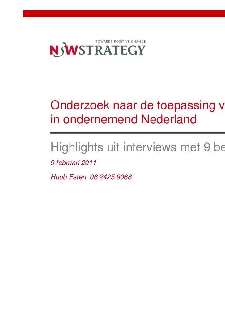 03 Nps Kwalitatieve Interviews N3 Wstrategy 09 02 2011