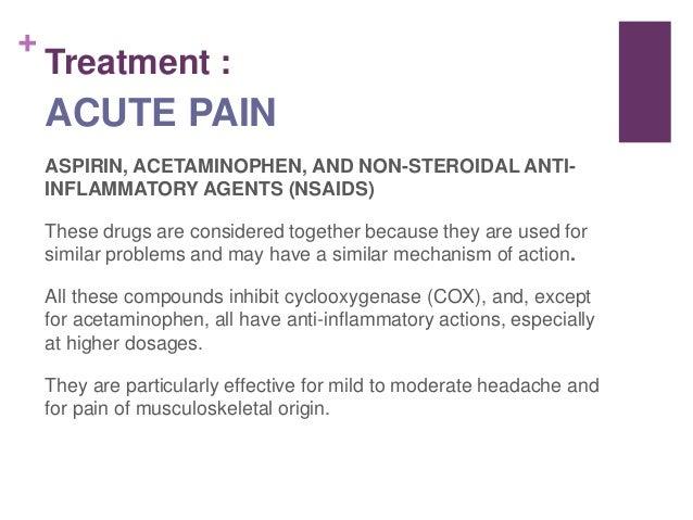 Pain Mechanism of Action Mechanism of Action