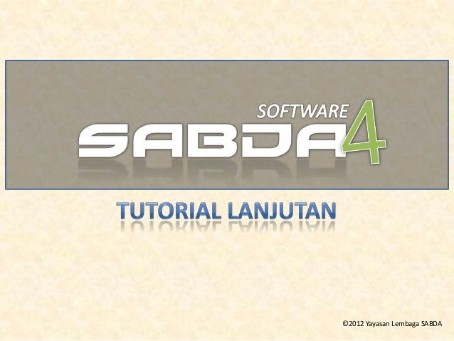 Tutorial Lanjutan Software SABDA