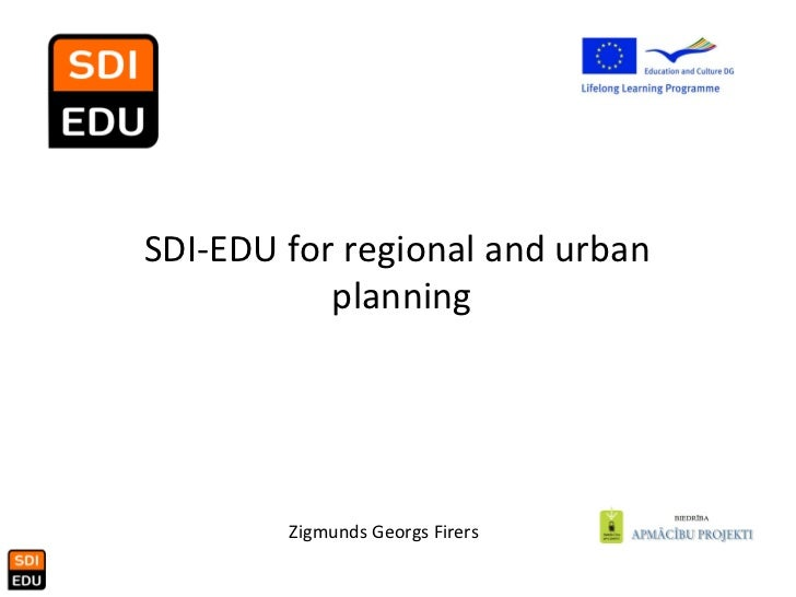 SDI-EDU for regional and urban  planning
