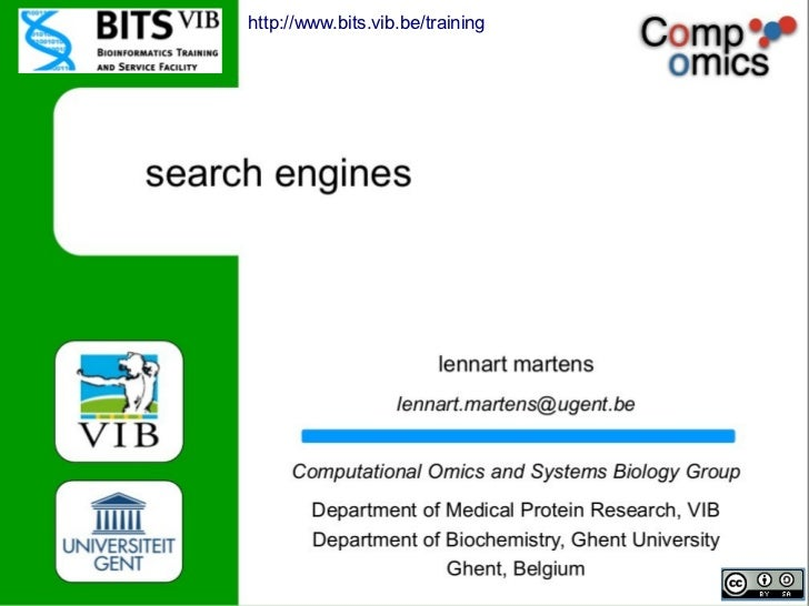 BITS - Search engines for mass spec data