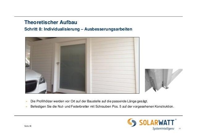 solarwatt carport system systemkomponenten aufbau. Black Bedroom Furniture Sets. Home Design Ideas