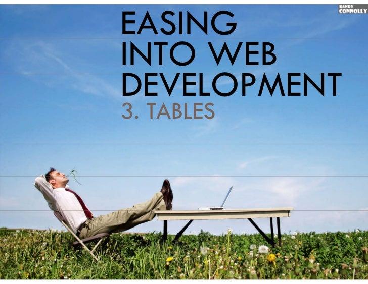 EASINGINTO WEBDEVELOPMENT3.3 TABLES