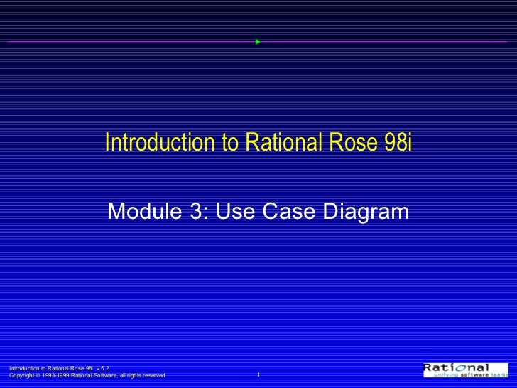 Introduction to Rational Rose 98i Module 3: Use Case Diagram