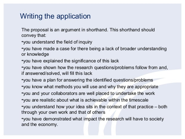 How to write a letter of application for grant