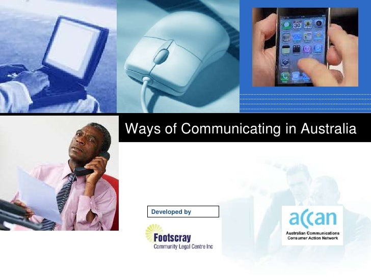 Ways of Communicating in Australia   Developed by     Company     LOGO