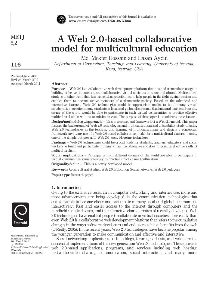 Web 2.0 in Multicultural Education