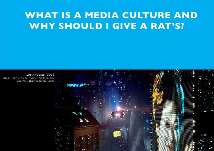 WTF is a media culture...and why should I give a rats?