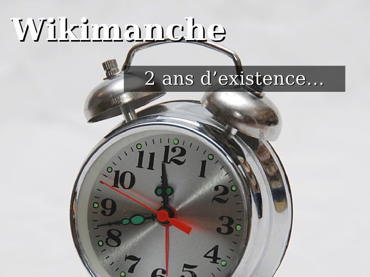 Wikimanche 2 ans d'existence…