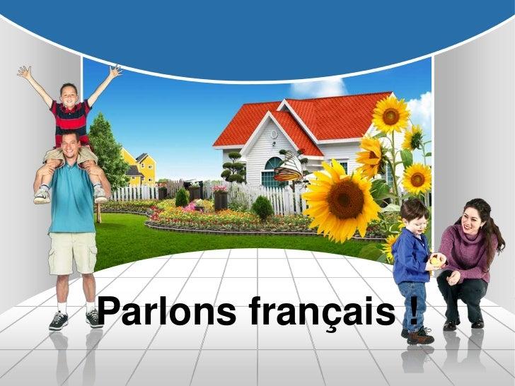Parlons français !