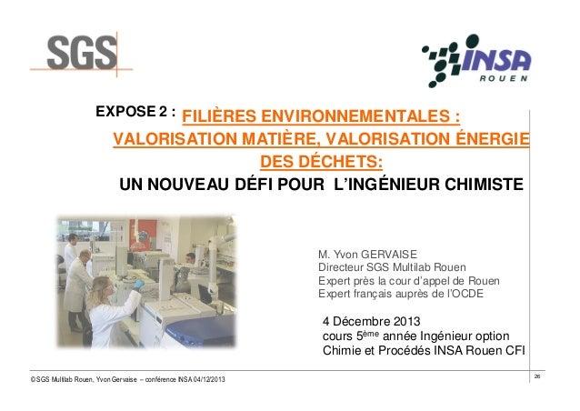 EXPOSE 2 : FILIÈRES ENVIRONNEMENTALES :  VALORISATION MATIÈRE, VALORISATION ÉNERGIE DES DÉCHETS: UN NOUVEAU DÉFI POUR L'IN...