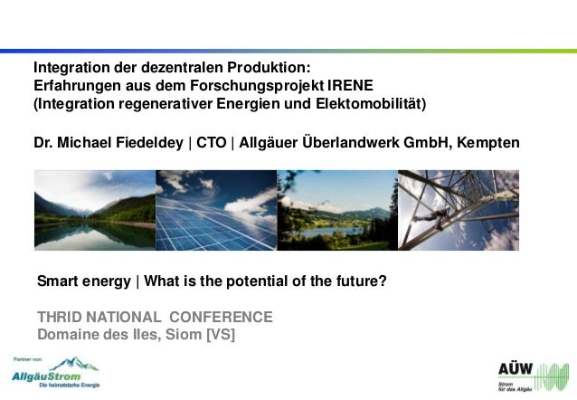 Integration der dezentralen Produktion: Erfahrungen aus dem Forschungsprojekt IRENE (Integration regenerativer Energien un...