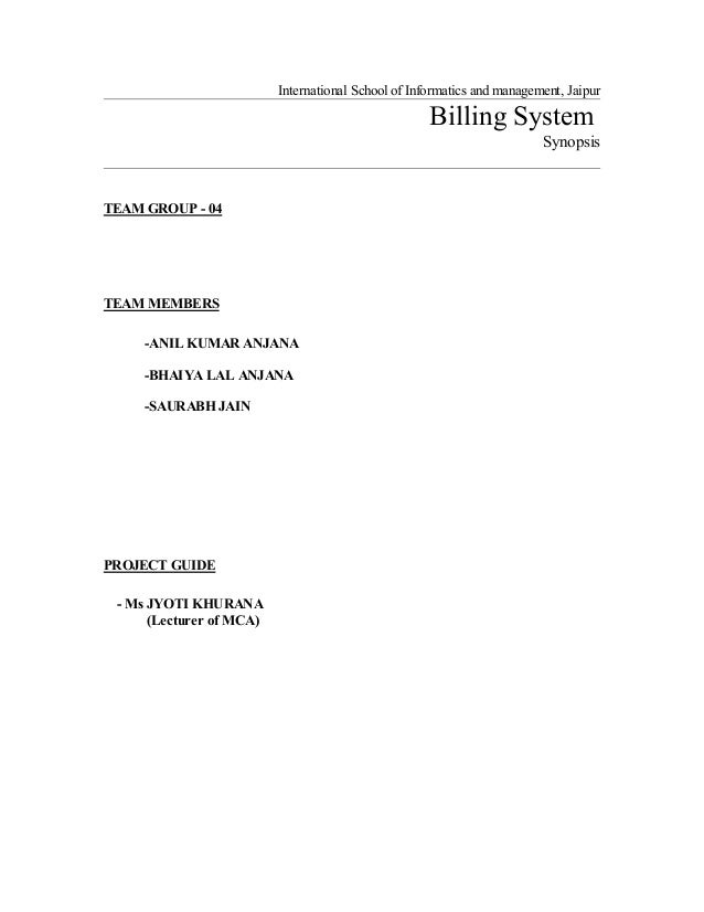 proposal for a billing system development Our proposed billing system, themis uses the concept of a cloud notary  verify  the usage of computing resources have been actively studied and developed in.