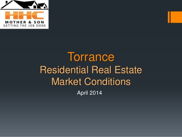 Torrance Residential Real Estate Market Conditions April 2014