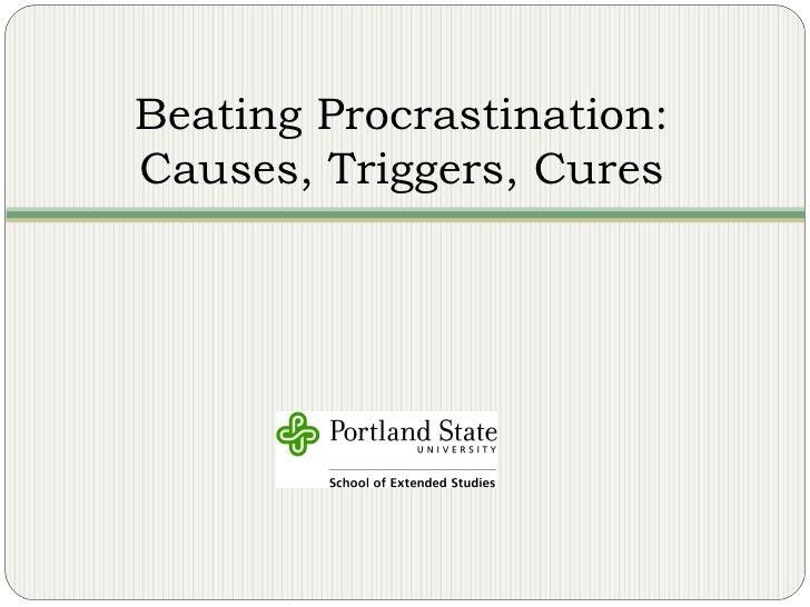 PSU - Beating Procrastination