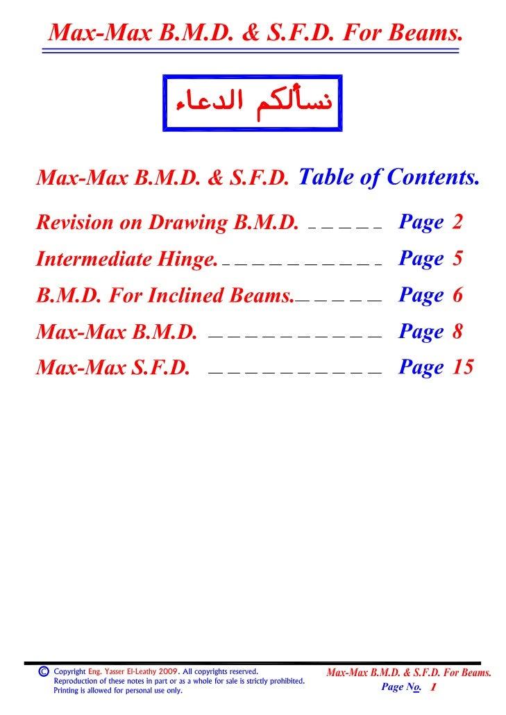 04  (beams) (1) max-max b.m.d & s.f.d. for beams.