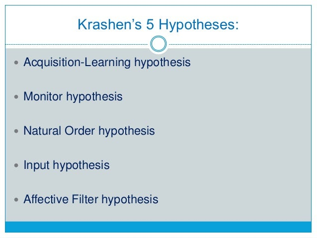 Krashen's Input Hypothesis and Swain's Output Hypothesis