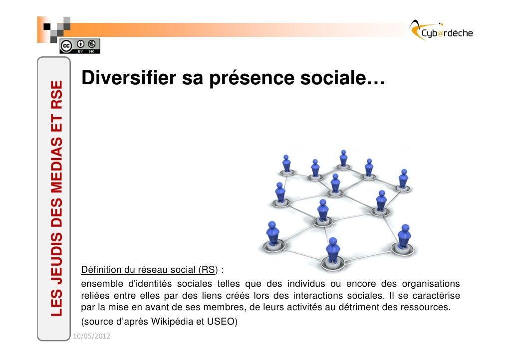 Diversifier sa présence sociale…LES JEUDIS DES MEDIAS ET RSE                                 Définition du réseau social (...