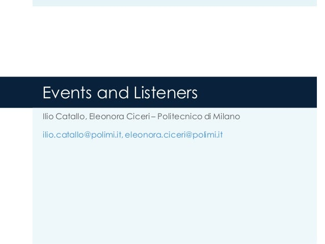 Events and Listeners in Android 4.x