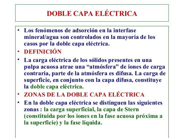 Doble Capa Eléctrica• Los