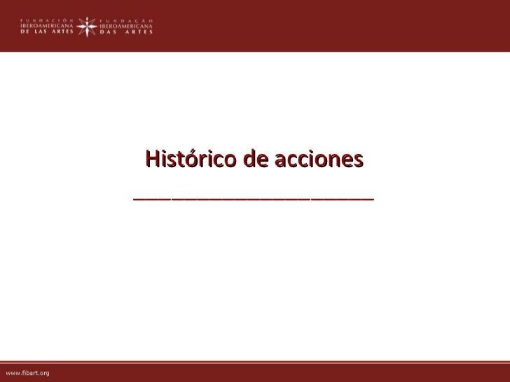 Histórico de acciones___________________