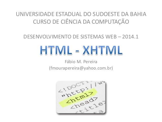Curso de Desenvolvimento de Sistemas Web - (X)HTML